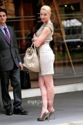 Amber Heard (nice butt in dress) on Syrup set in NYC (June 18th, 2011)