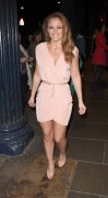 Kimberley Walsh Leaving the Theatre Royal in London 30th March x8