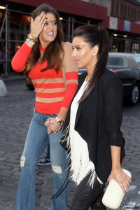 Kim and Khloe Kardashian Out in New York 21st April x8
