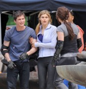 Alexandra Daddario - on set of Percy Jackson Sea of Monsters in Vancouver 05/09/12