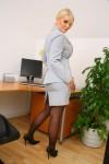 Вера Стивенс, фото 35. Faith Stevens - Grey Suit (OnlyTease), foto 35