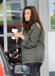 Imogen Thomas Filling Up Her Car in London 10th July x12